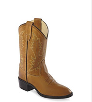 Old West Kids Tan Youth Western Boots