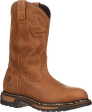 Rocky Men's Original Ride Branson Steel Toe Waterproof Western Boots
