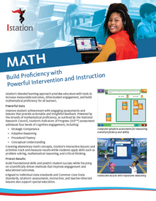 NEW Istation Math Brochure - 6 Pages (Pack of 50)