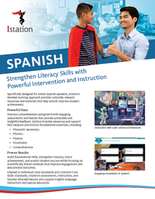 NEW Istation Spanish Brochure - 6 Pages (Pack of 50)