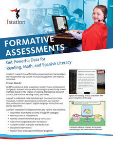 NEW Istation Data and Assessments Brochure - 6 Pages  (Pack of 50)