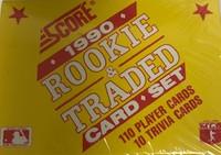 1990 Score Rookie & Traded Set (110 Cards) Baseball