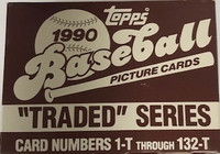 1990 Topps Traded Series Set (132 Cards) Baseball