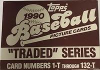 1990 Topps Traded Series Set (132 Cards) Baseball