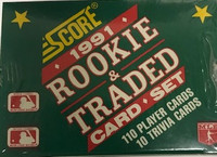 1991 Score Rookies & Traded Set (110 Cards) Baseball