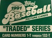 1991 Topps Traded Series Set (132 Cards) Baseball