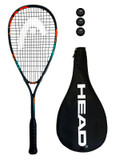 Head Cyber Elite Squash Racket + 3 Squash Balls