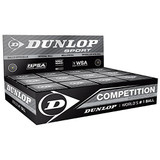 12 Dunlop Competition Single Yellow Dot Squash Balls