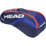 Head Radical 6 Combi Tennis Racket Bag - Blue/Orange