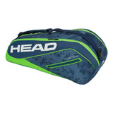 Head Tour Team 6 Combi Tennis Racket Bag - Blue/Green