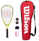 Wilson Ripper Junior Squash Racket Set with Bag, Waterbottle & Balls