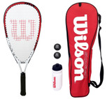 Wilson Tour Pro Junior Squash Set With Balls