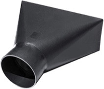 """Dust collector hood fits 4"""" round flex hose and provides a 4"""" X 10"""" dust collection area. Perfect size for one of Seyco's Flex Drum Sanders."""