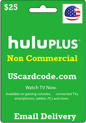 Non Commercial Hulu plus gift card