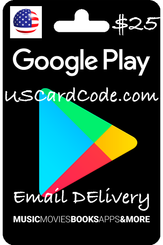 $25 Google card code on USCardCode.com 400x600