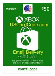 $50 Xbox live gift card | USCardCode.com