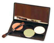 DermUs Eye Shadows (3) with Black Magnetic Compact