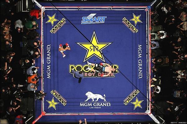 Pro Elite 20' X 20' Fight Night Professional Boxing Ring