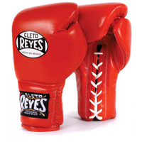 Cleto Reyes Lace Up Training Gloves Red Color