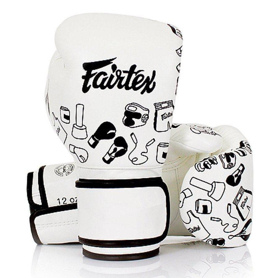 Fairtex Muay Thai Gloves White Street Art