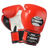PRO COMBAT MUAY THAI / BOXING GLOVES RED COLOR