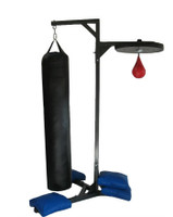 PROLAST Professional Boxing Double Station Heavy Bag with 4 Unfilled Sand Bags Stand