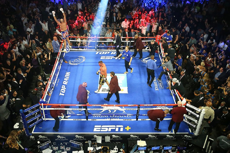 "Professional ""Fight Night"" Boxing Ring"