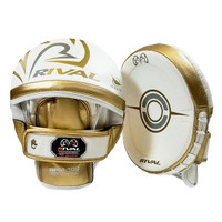 RIVAL 100 SERIES PRO PUNCH MITT WHITE/GOLD