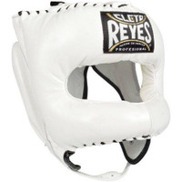 Cleto Reyes Traditional Headgear with Pointed Nylon Face Bar White