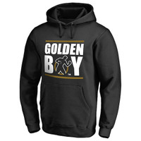 Men's Black Golden Boy Promotions Logo Pullover Hoodie