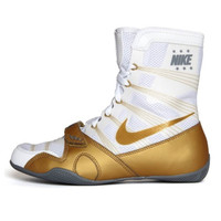 Nike HyperKO Limited Edition - White/Metallic Gold Boxing Shoes