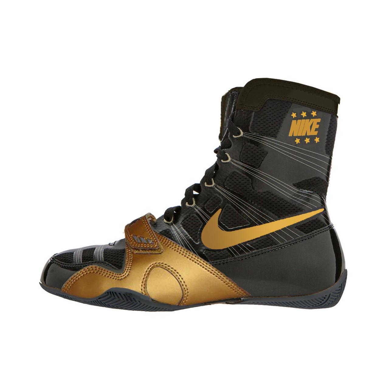 Black/Metallic Gold Boxing Shoes