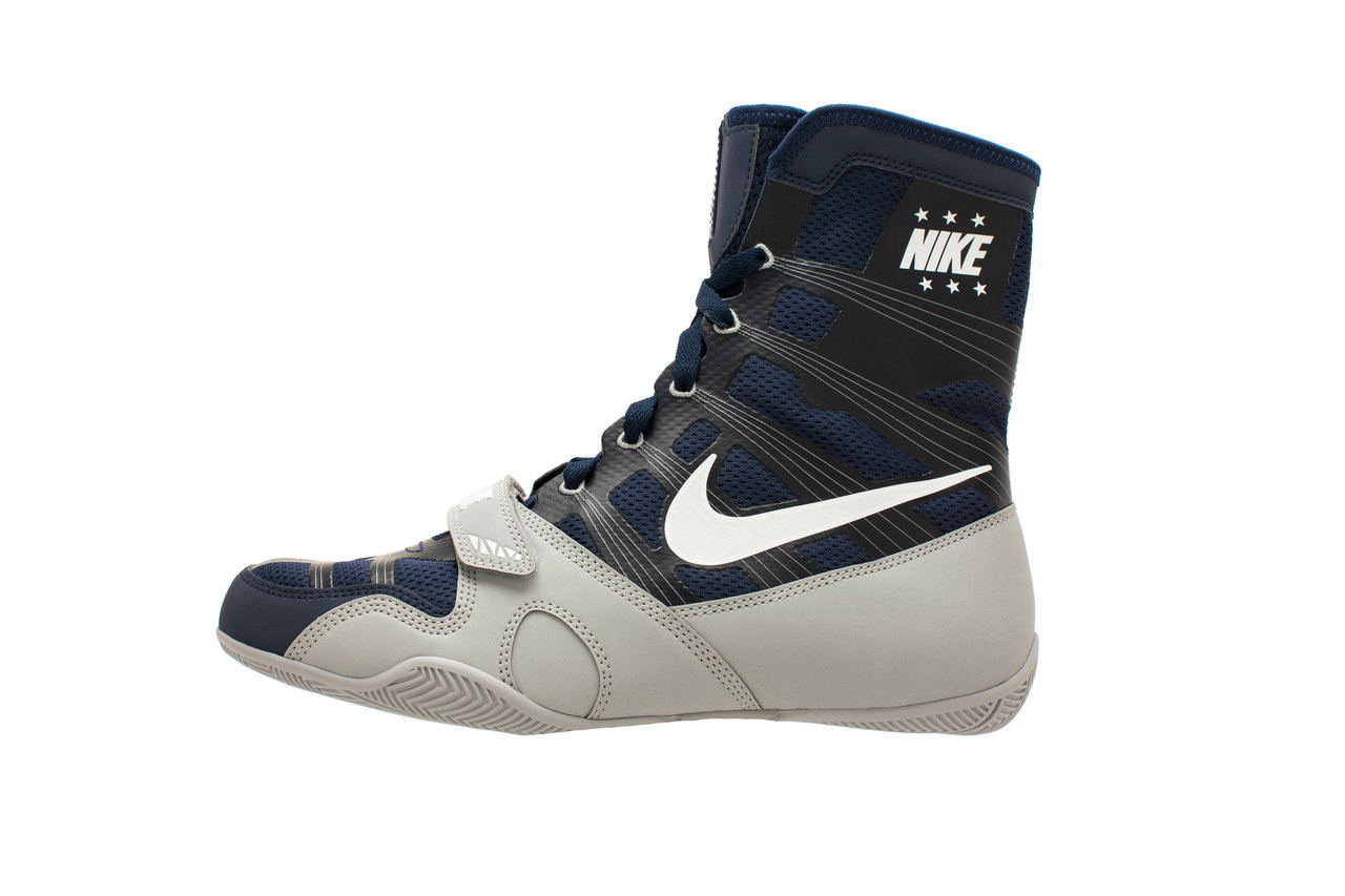 Midnight Navy/White/Silver Boxing Shoes