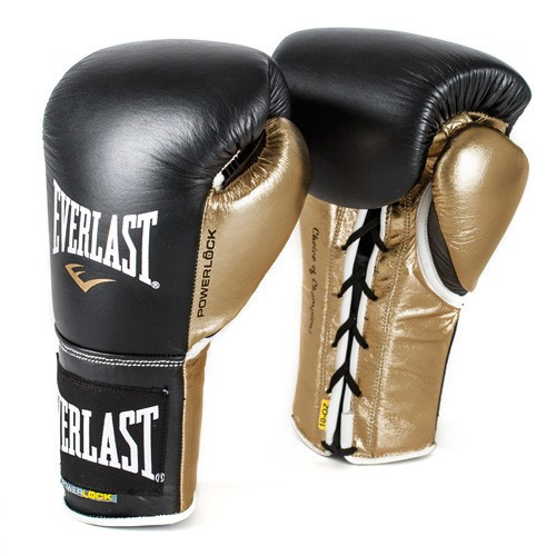 Everlast POWERLOCK Laced Training Gloves Black/Gold