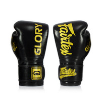 Fairtex X Glory Competition Gloves Black/Gold – Velcro