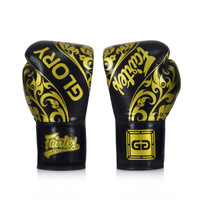Fairtex X Glory Limited Edition Gloves Black/Gold – Lace up