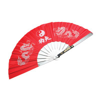 Kung Fu Steel Fan Red