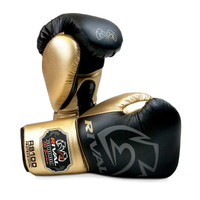 RIVAL RS100 Professional Boxing Sparring Gloves Black/Gold