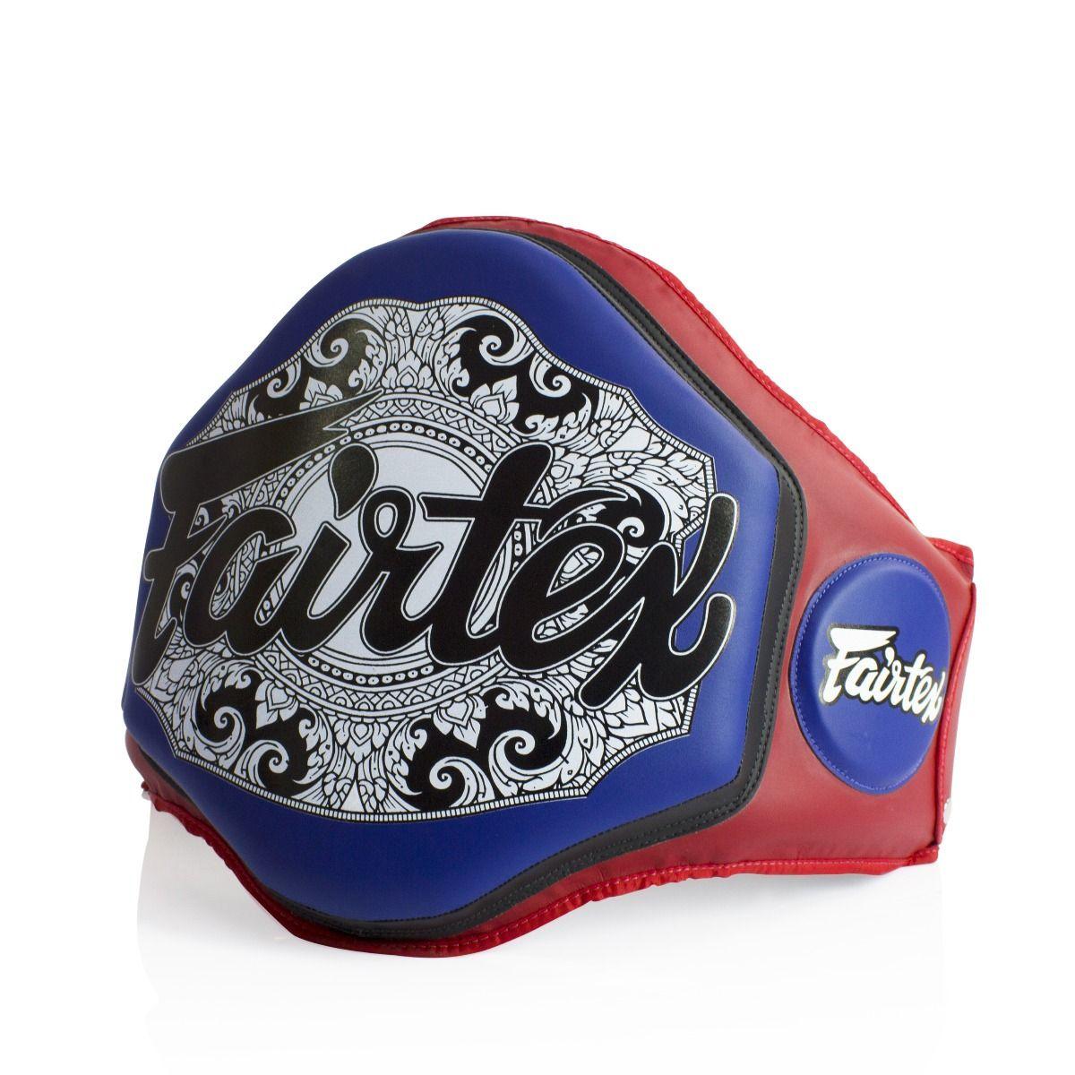 Fairtex Boxing Muay Thai Microfiber Belly Pad Red/Blue