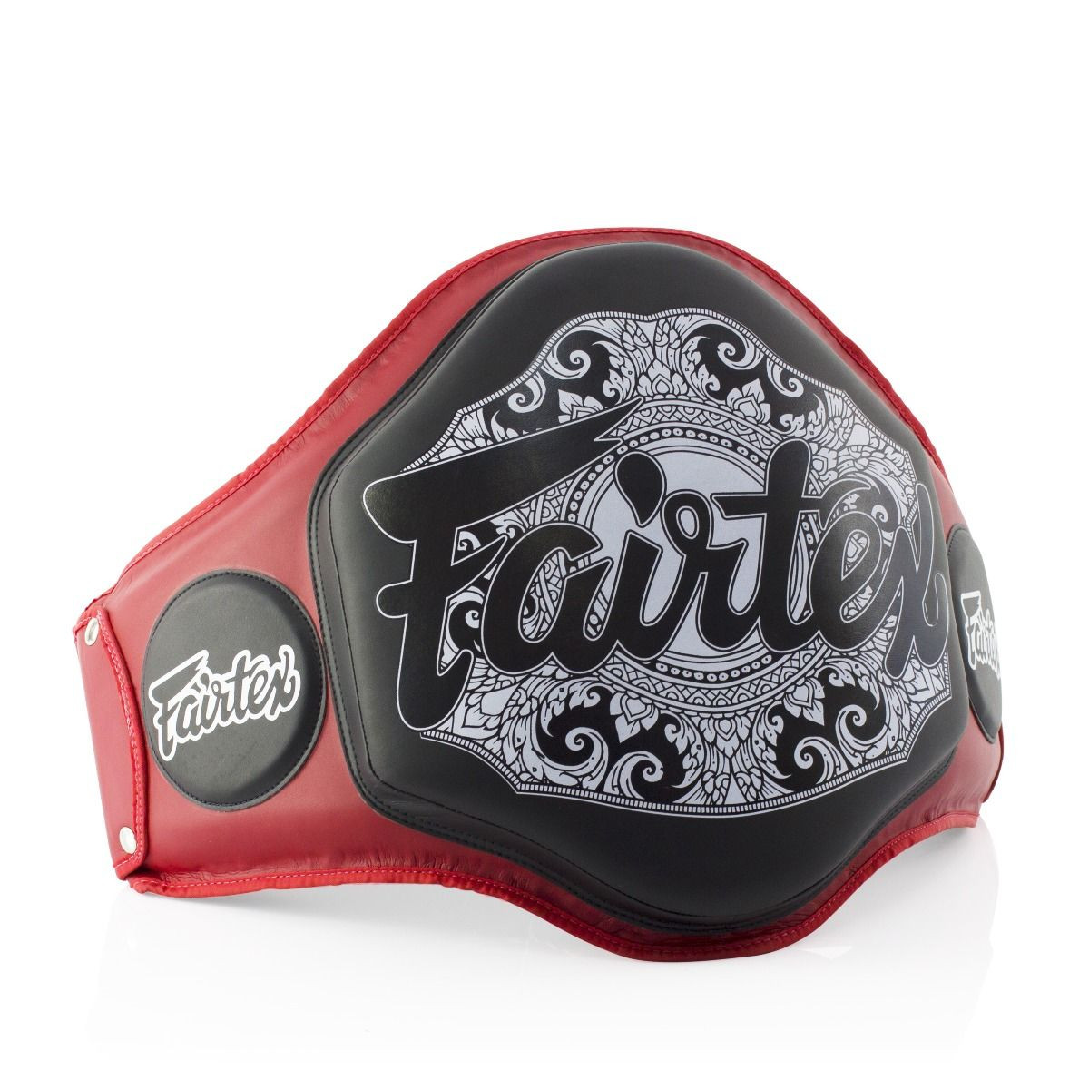 Fairtex Boxing Muay Thai Microfiber Belly Pad Red/Black