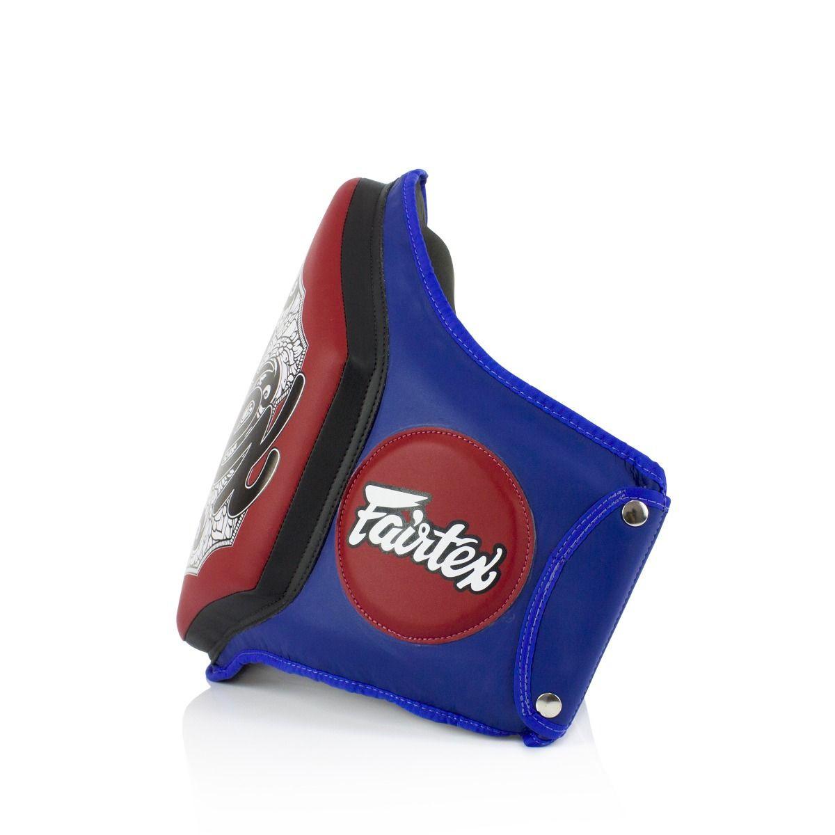 Fairtex Boxing Muay Thai Microfiber Belly Pad Blue/Red