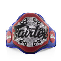 Fairtex Boxing Muay Thai Microfiber Belly Pad Blue/Red