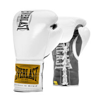 Everlast Metallic White 1910 Classic Fight Gloves