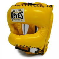 Cleto Reyes Traditional Headgear with Pointed Nylon Face Bar Yellow