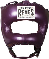 Cleto Reyes Traditional Headgear with Pointed Nylon Face Bar Metallic Purple