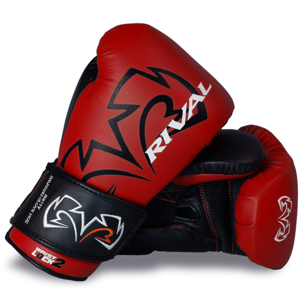 RIVAL RS11V Evolution Sparring Boxing Gloves Black/Red
