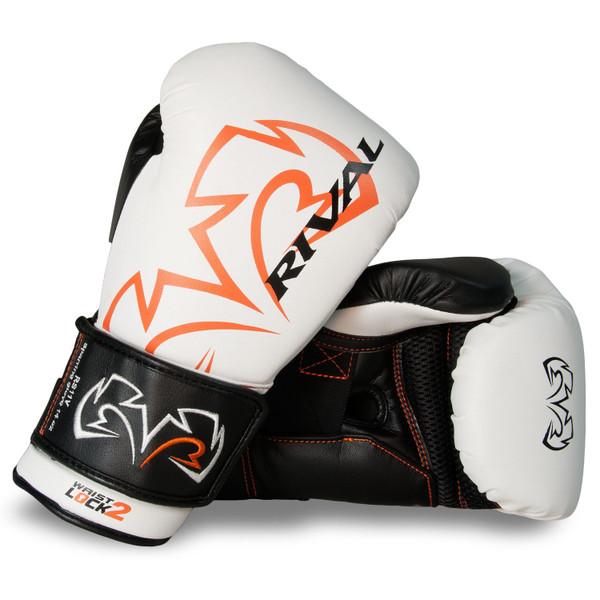 RIVAL RS11V Evolution Sparring Boxing Gloves White