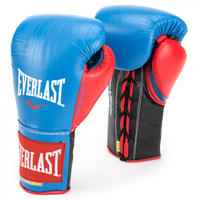 Everlast Powerlock Pro Fight Boxing Gloves Blue/Red