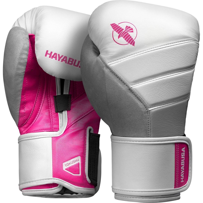 Hayabusa T3 Boxing Gloves White/Pink