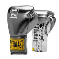 Everlast Metallic Black 1910 Classic Fight Gloves